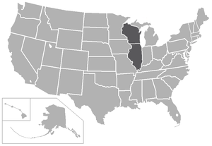 College Conference of Illinois and Wisconsin - Image: CCIW USA states