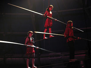 English: Young performers at Circus Juventas d...