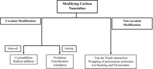 Carbon nanotube chemistry - Chart summarizing options for the chemical modification of carbon nanotubes.