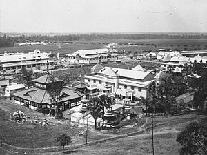 Colonial Exhibition of Semarang - Aerial view of the colonial exhibition of Semarang