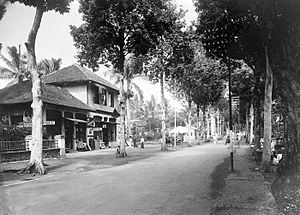 Garut - The main street of Garut in 1936