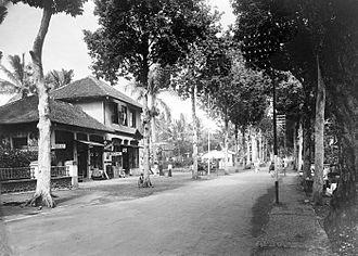 Garut Regency - Garut's main street in 1936