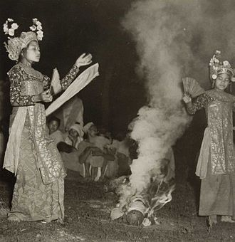 Hyang - The sacred Balinese dance Sanghyang Dedari involved girls being possessed by hyangs.