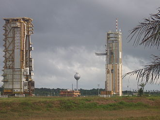 Guiana Space Centre - The now-decommissioned ELA-2 - l'Ensemble de Lancement Ariane 2 Ariane 4 launch site