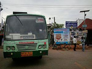 Cuddalore–Ariyankuppam Bus Route - Route 391 Cuddalore-Ariyankuppam Bus standing at Cuddalore Bus Stand