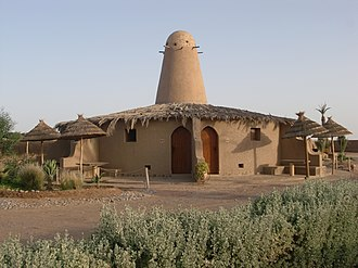 Erfoud - Image: Cabins at the tifina campground, south of the town of Erfoud, Morocco