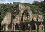 Calder Abbey, ruins of the monastic church and east range