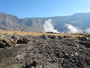 Mount Tambora - On the floor of Tambora's caldera, looking north