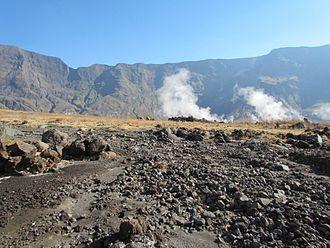 Mount Tambora - On the floor of Tambora's caldera, looking north