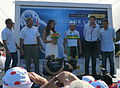 Caleb Ewan sur le podium après sa victoire dans la seconde étape du Tour de l'Avenir 2013 - 2.JPG
