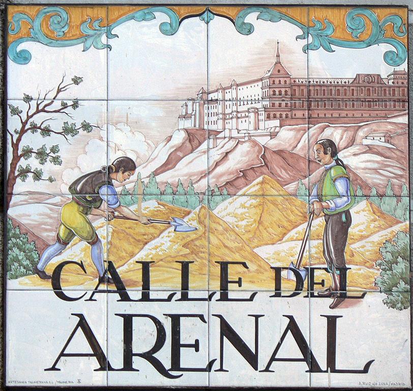 Placa de la Calle del Arenal de Madrid.