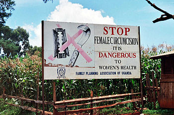 A campaign against female genital mutilation