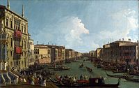 Canal, Giovanni Antonio Canal - Venice, A Regatta on the Grand Canal - National Gallery NG938.jpg