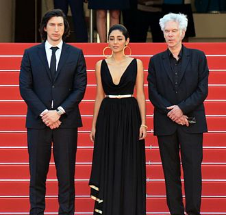 Paterson (film) - Adam Driver, Golshifteh Farahani and Jim Jarmusch at the 2016 Cannes Film Festival