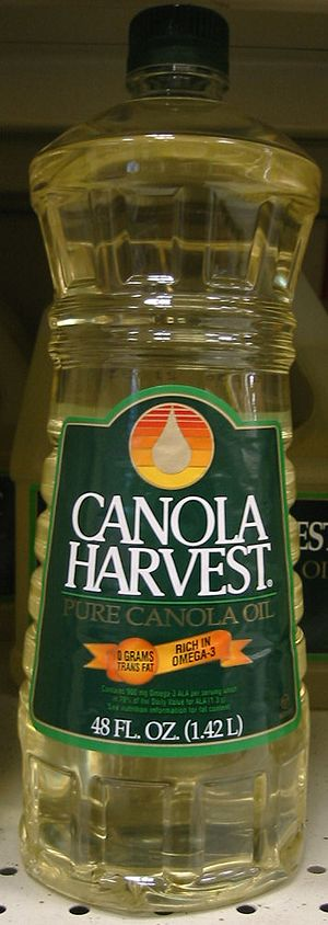 Canola - Bottle of canola cooking oil
