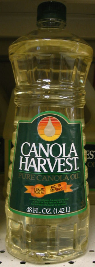 Canola oil - Bottle of canola cooking oil