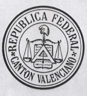 First Spanish Republic - Seal of the federal canton of Valencia (1873)