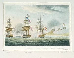 HMS Anson (1781) - Image: Capture of Pomona