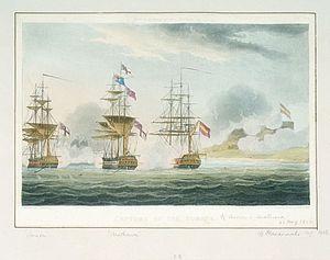 HMS Anson (1781) - Image: Capture of Pomona