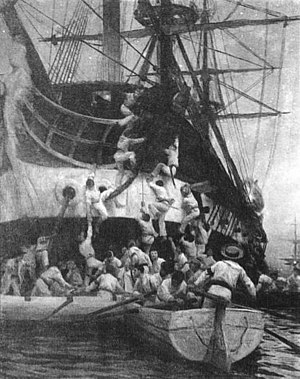 Naval boarding - Boarding and capture of the Spanish frigate ''Esmeralda'' by Chileans in Callao, 1820