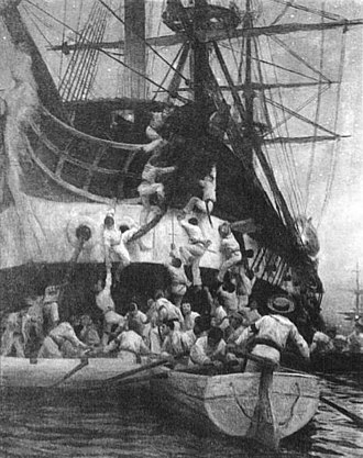 First Chilean Navy Squadron - Capture of the Esmeralda in Callao, L, Colet, Club Naval, Valparaíso