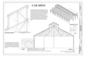 Car Shed - Clerestory Detail, Section, and Isometric View - Western Railway of Alabama Montgomery Rail Shops, 701 North Perry Street, Montgomery, Montgomery County, AL HAER AL-186 (sheet 13 of 14).png