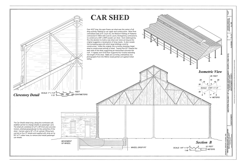 File car shed clerestory detail section and isometric for Clerestory shed plans