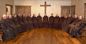 Monks of the Most Blessed Virgin Mary of Mount Carmel - The Carmelite Monks recreate in their monastery.