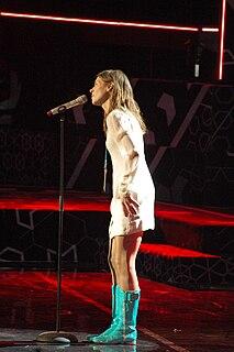 Caroline af Ugglas Swedish singer, artist and chorister (born 1972)