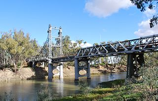 Murrumbidgee River bridge, Carrathool bridge in Australia