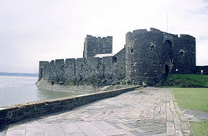 François Thurot - The eastern side of Carrickfergus Castle