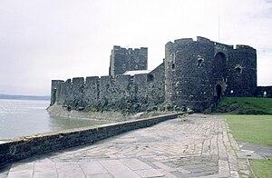 English: North-east side of Carrickfergus Cast...