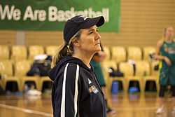 Carrie Graf at day two of the Opals camp
