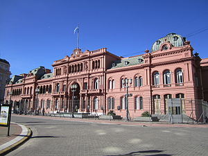 Politics of Argentina - Pink House, seats the executive power.