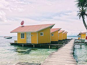 Bocas Town, Bocas del Toro - Stilt houses in Bocas del Toro