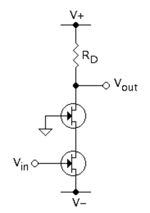 Cascode - Figure 1: N-channel class-A cascode amplifier