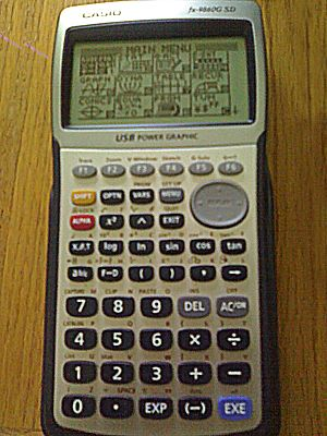 Casio 9860 series - Casio fx-9860G SD