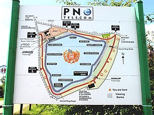 Castle Combe Circuit - Image: Castle Combe Racing Track Layout geograph.org.uk 42628