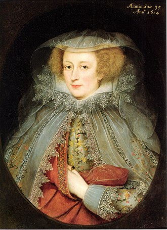 Marcus Gheeraerts the Younger - Catherine Killigrew, Lady Jermyn, 1614.
