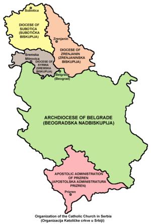 Roman Catholic Archdiocese of Belgrade - Image: Catholic Church Serbia