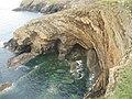 Caves below Wooltack Point - geograph.org.uk - 1517502.jpg