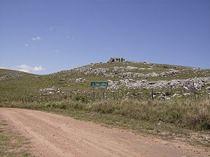 Cerro Catedral (Uruguay) - The summit of Cerro Catedral, near a dirt road (Ruta 109).