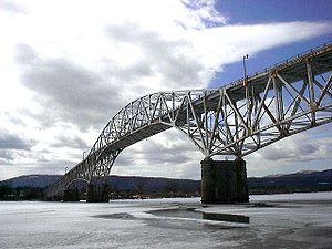 Photograph of Champlain Bridge, connecting the...