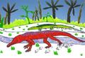 Champsosaurus & Leidyosuchus JWArtwork.png
