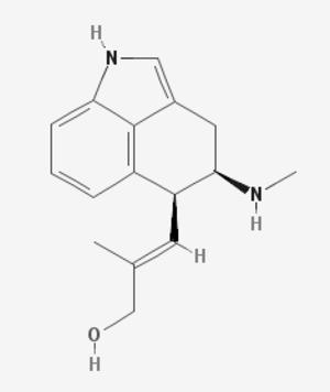 Argyreia nervosa - Chanoclavine II structure