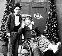 Charlie & Jess Dandy in His New Profession; Keystone c.1914.jpg