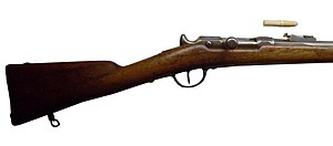 Needle gun - Chassepot gun, with cartridge.