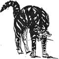 Chat faisant le dos rond, d'après un dessin de Mérimée.png