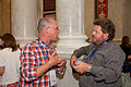 Chatting at LOC Wikimania 2012 Opening Reception.jpg