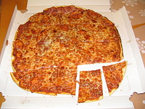 Chicago-style pizza - Chicago-style party-cut thin-crust pizza